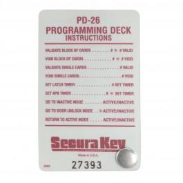 Securakey PD-26 Program Card Deck